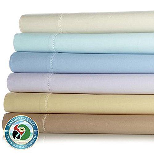 Margaritaville 500Thread Count 100 Cotton Solid 4-piece Sheet Set - Full - Beige