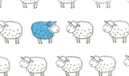 NATE NAT 3pc Cartoon Lamb Sheep Winter Warm Flannel Sheet Set 100 Cotton Grey Blue Gray Flanel Girls Boys Kids Bedding