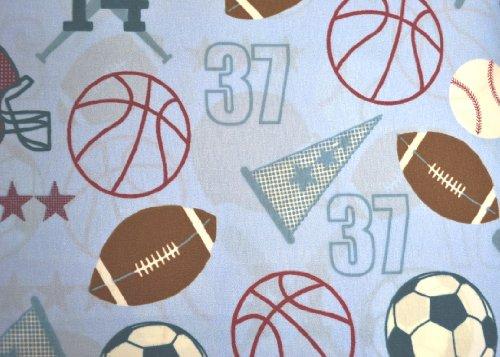 Kids Collection Sports Baseball Football Soccer Basketball Twin 3-piece Soft Lightweight Microfiber Sheet Set