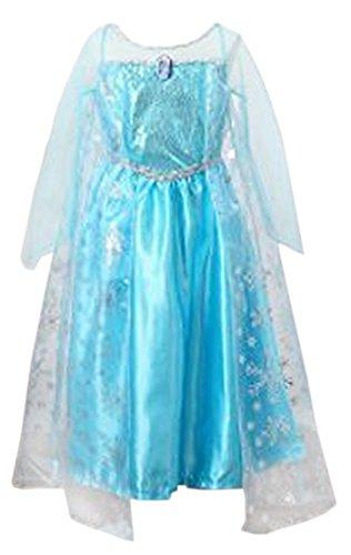 Santana Fashion Girls Snow Queen Costume Snow Princess Dresses - F2-Elsa US-56 Elsa