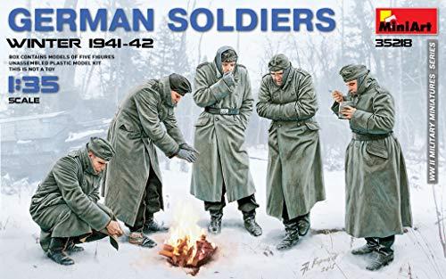 MiniArt 35218 German WWII Soldiers Winter 1941-42 135 Scale World War II Military Miniatures Series Plastic Figures Model Kit