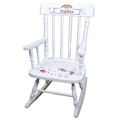 Personalized Childrens Unicorn Rocking Chair
