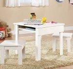 Sauder Beginnings Kids Table and Stool Set WHITE