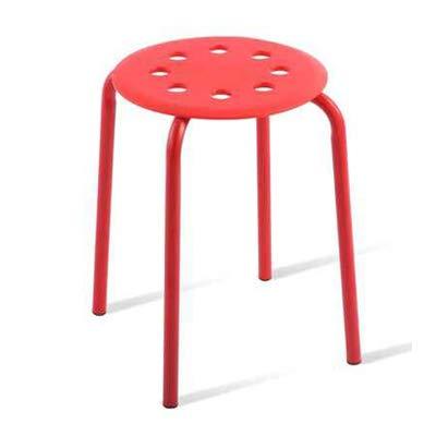 LJLJX Plastic StoolPortable Stackable StoolsKids Classroom Home Playroom Padded Stool1775 HeightRed