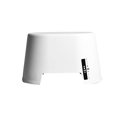 RSLG Thick Non-slip Plastic Stool Child Seat Stool Bathroom Living Room Change Shoes White