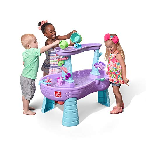 Step2 Rain Showers Unicorns Water Table  Kids Purple Water Play Table with 13-Pc Unicorn Accessory Set