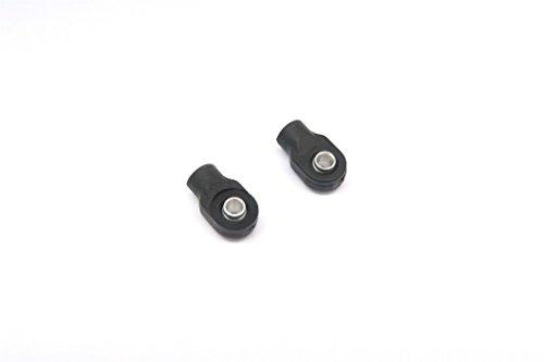 Traxxas 116 Mini E-Revo Mini Slash Mini Summit Upgrade Parts Nylon Ball Ends With Balls For GPMERV348 Adjustable Spring Damper - 1Pr Set Black