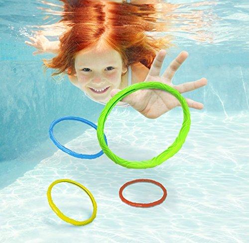 Aqua Games Dive Rings Set of 6 by Aqua Leisure by Aqua Leisure