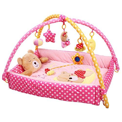 LemonGo Baby and Toddler Bear Fold Activity Gym and Play Mat