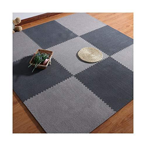 MARYYUN Soft Plush Padding Carpet Area Rug for Floor ProtectivePuzzle Exercise Play Mat GymYoga30x30x10cm12 Pcs27 Pcs42 Pcs Color  Light GrayDark Gray Size  27