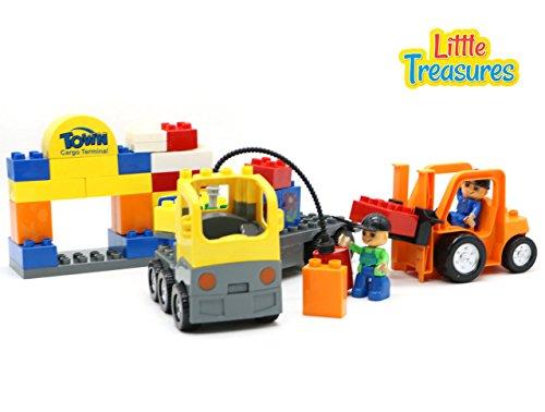 Creative Building Town Cargo Terminal - Brick blocks 43-pcs Duplo compatible toy parts set for preschool kids