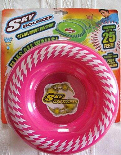 Maui Toys Pop Skybouncer Pink Lightning Flying Disc
