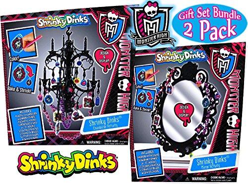 Tara Toy Monster High Shrinky Dinks Chandelier Mirror Activities Gift Set Bundle - 2 Pack