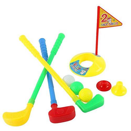 Dongcrystal Kids Golfer Toy 3 Clubs3 Golf Balls1 Practice Hole Golf Set For Children Kids Gift