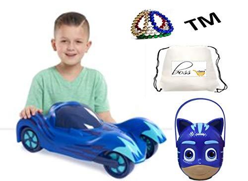 POG Kids Boys Bonus Exclusive Al La Frantiea TM PJ Masks Mega Vehicle PJ Masks Light Up Racer Catboy Toy Bucket