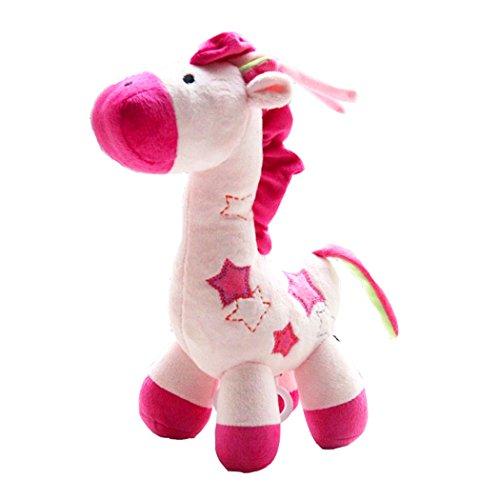 SKK Baby Musical Plush Pull Toys Music Box Giraffe For Infant Toddlers Pink