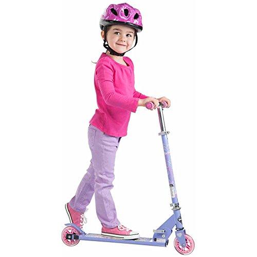 Disney Aluminum Princess Huffy Inline Folding Kick Scooter Pink