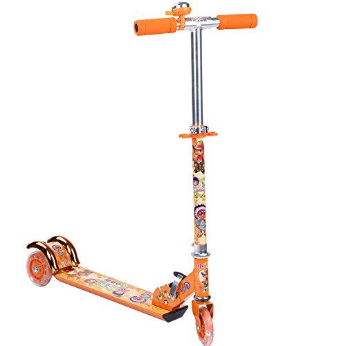 XLMÂ Childrens Light Up Three-wheel Folding Kick Scooter Xlm-2028 Orange