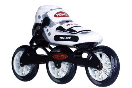 Trurev 3 Wheel Youth Inline Skates- 3-100 -Size 5 55- New on Amazon