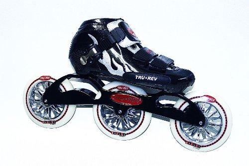 Trurev Youth 3 Wheel Inline Skates- 3-110 Youth Size 4 Black