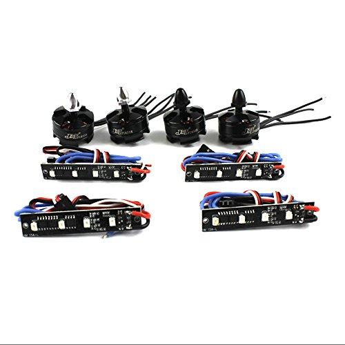 QWinOut DIY Mini Racing Drone 210250270 Quadcopter Brushless Motor ESC Combo Set  4x BLheli REV112 15A ESC LED Light 4Pcs 2204 2300KV Motor CWCCW