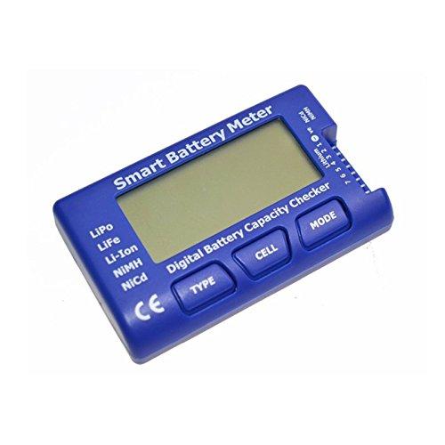 RCJuice Smart Battery Meter 5 in 1 Battery Tester Balancer Discharger and ServoESCPPM Tester