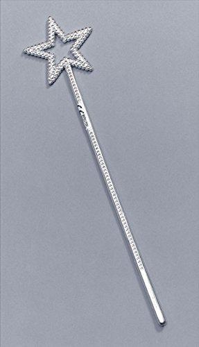 Fairy Wand Plastic Silver Prop Accessory for Fairytale Fancy Dress Prop by Partypackage Ltd