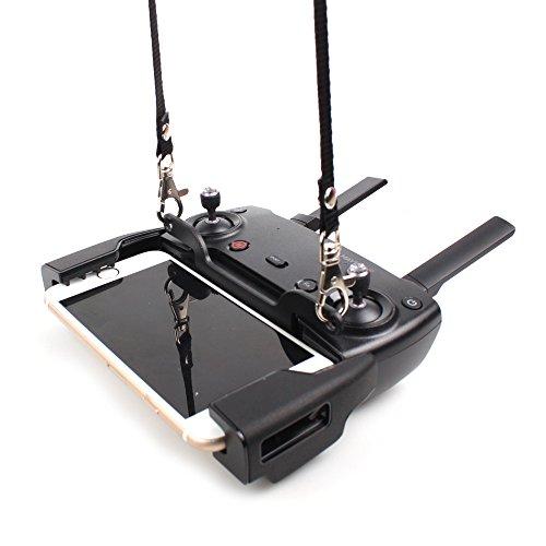 Rantow SPARK MAVIC Remote Controller Dual Hook Lanyard Bracket Buckle  Neck Hanging Belt Strap Necklaces Combo for DJI SparkDJI Mavic ProDJI Mavic Air Drone Transmitter
