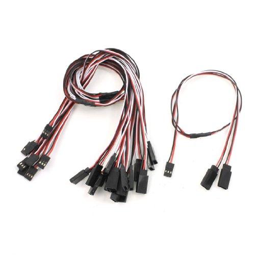 10Pcs 197 Length JR Futaba Part 3 Pin MF RC Servo Y Extension Cable