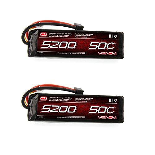 HPI Savage Flux 50C 3S 5200mAh 111V LiPo Battery with Universal Plug by Venom x2 Pack