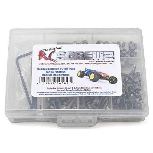 RC Screwz Steel Screw Kit Losi 22T 2WD RCZLOS064