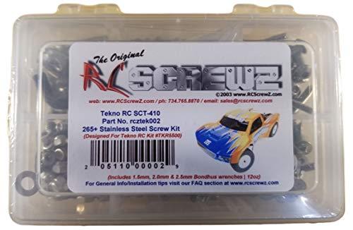 RCScrewZ Tekno RC SCT410 Stainless Steel Screw Kit TKR5500 - 265 pieces - tek002