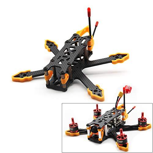 Usmile GX140 140mm Drone Frame Designed for Rumcam Split Mini 2 Caddx Turtle V2 1080P HD FPV Camera Micro 3 inch Quadcopter Frame Carbon Fiber FPV Racing Drone Frame GX140