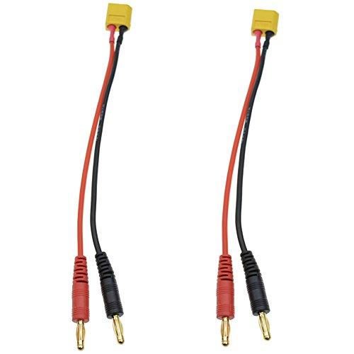 JrelecsXt60 Charging Cable with Banana Plugs for DJI Phantom Battery 2pcs