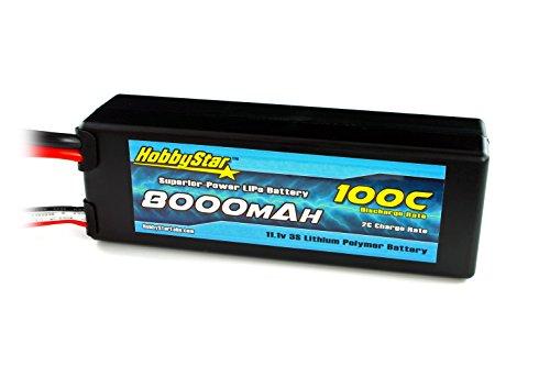 HobbyStar 8000mAh 111V 3S 100C Hardcase LiPo Battery - Traxxas Connector