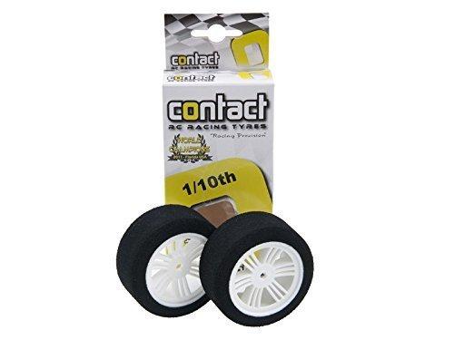 Contact RC 30mm 110 Nitro Sedan Foam Rear Tires 2 White 35 Shore