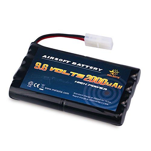 Melasta AA 96V 2000mAh NiMH Battery Pack with Tamiya Connector for RC Cars Boats RC Gadgets Airsoft Guns