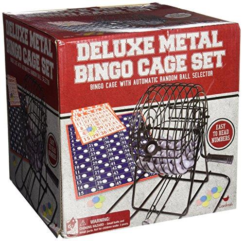 Deluxe Wire Cage Bingo Set styles will vary