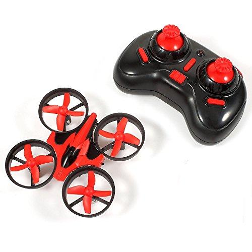 Bangcool Mini RC Drone 24G Mini UFO Quadcopter with 6-Axis Gyroscope Headless Mode 3D Flip One Key Return Red