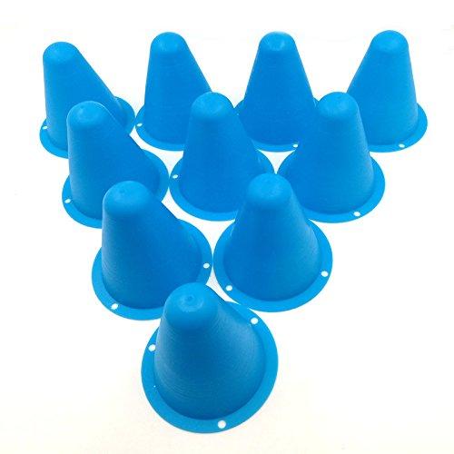 Jack-Store 10pcs Soft Road Cones  Pylons for 110 Sakura D3 RC4WD Axial RC Car Blue