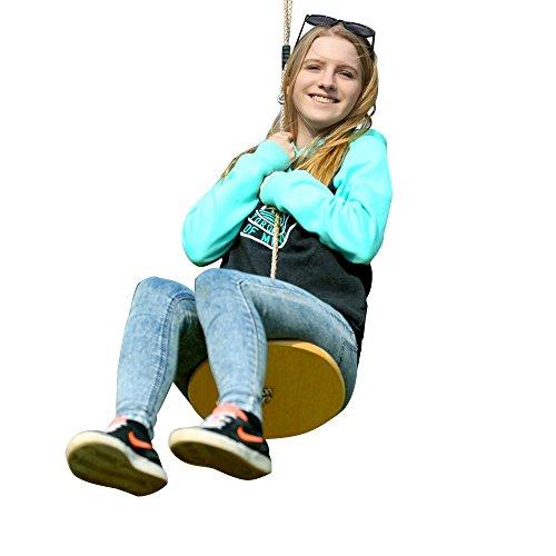 HappyPie Multiplex Wood Monkey Mega Disc Tree Swing Outdoors Garden Indoors Swing Toy for Children
