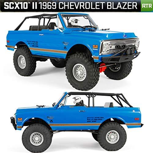 Axial SCX10 II 69 Chevrolet Blazer 4WD RTR RC Rock Crawler Off-Road 4x4 110 Scale Blue