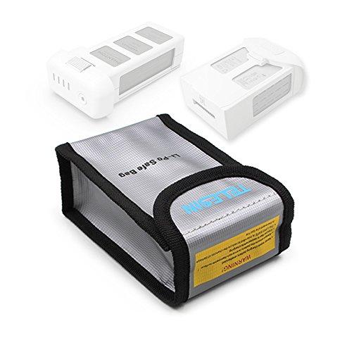 TELESIN Lipo Safety Guard Fire Resistant Lipo Battery Safe Bag for DJI Phantom 3 Phantom 4 Battery Charging Storage-1 Pack