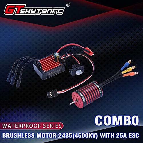 DishyKooker GT-SKYTENRC Combo 2435 4500KV 4800KV Brushless Motor w 25A ESC for 116 118 RC Buggy Drift Racing Car