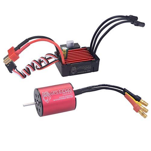 MeterMall Models&Games for Surpass Hobby 2430 5800KV Brushless Motor  25A Brushless Speed Controller ESC Waterproof for 118 116 RC Car