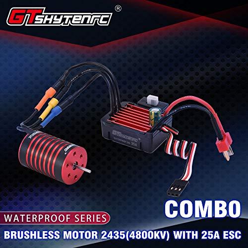 OUYAWEI New for GTSKYTENRC Combo 2435 4500KV 4800KV Brushless Motor w 25A ESC for 116 118 RC Buggy Drift Racing Car