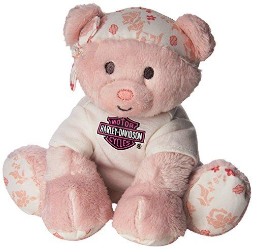 Harley Davidson All Bean Bag Pink Bear Spark Plug