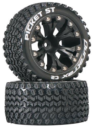 Duratrax Picket ST 28 Truck 2WD Mntd 12 Offset C2 Tires 2-Piece Black