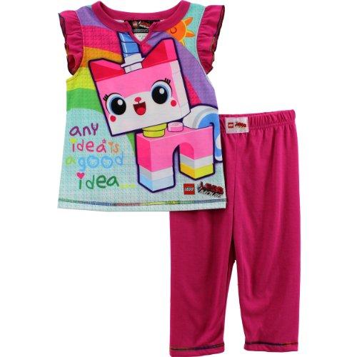 Lego Movie Little Girls  Unikitty Pajama Set Pink 66X