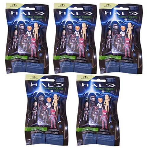 McFarlane Toys Action Figure - Halo Avatar Figures Series 2 - 5 Random Packs